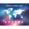 世界地圖壁幔