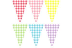 方塊格紋三角串旗