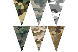 迷彩三角串旗