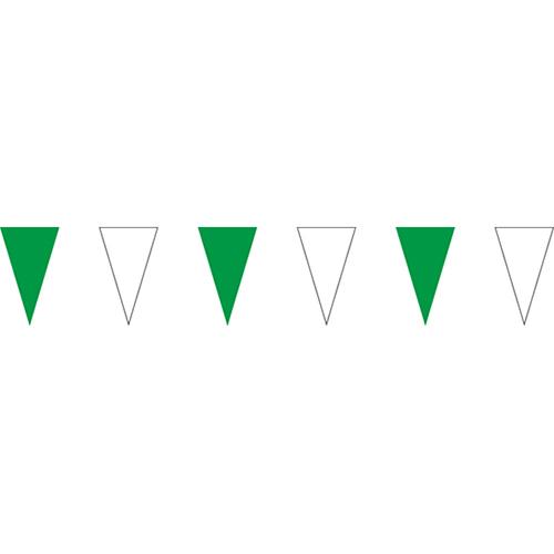 綠白三角串旗;彩色三角串旗