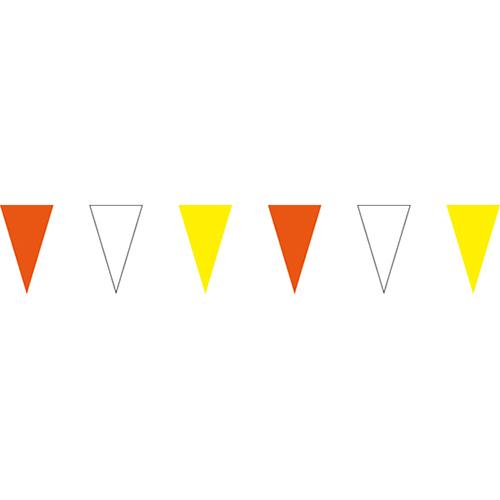 橘白黃三角串旗;彩色三角串旗