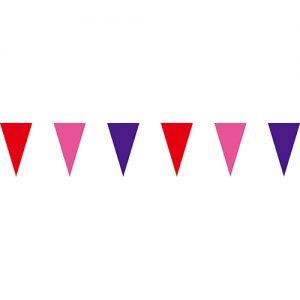 紅粉紫三角串旗;彩色三角串旗