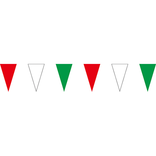 紅白綠三角串旗;彩色三角串旗