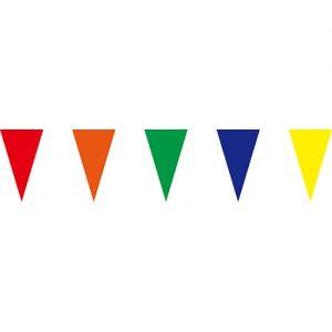 五彩三角串旗;彩色三角串旗