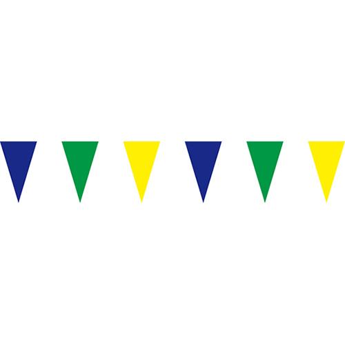 藍綠黃三角串旗;彩色三角串旗