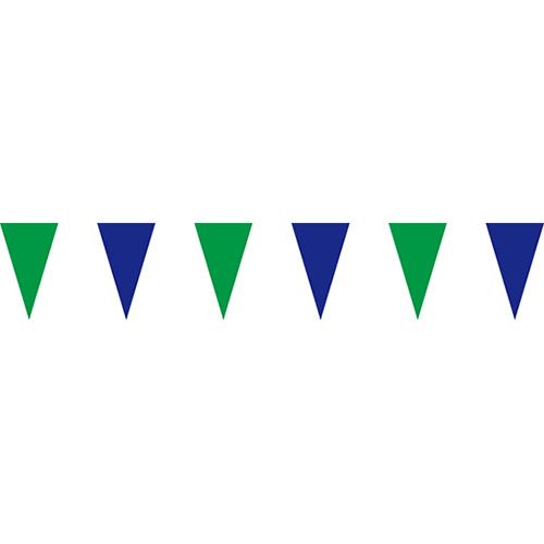 綠藍三角串旗;彩色三角串旗