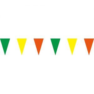 綠黃橘三角串旗;彩色三角串旗