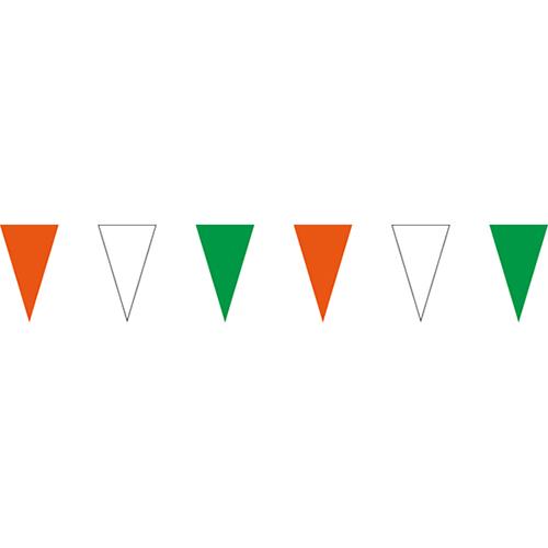 橘白綠三角串旗;彩色三角串旗