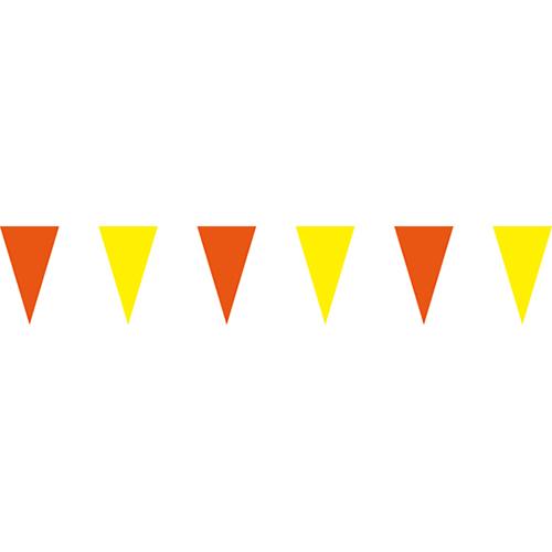 橘黃三角串旗;彩色三角串旗