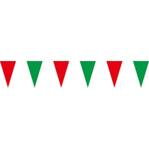 紅綠三角串旗;彩色三角串旗