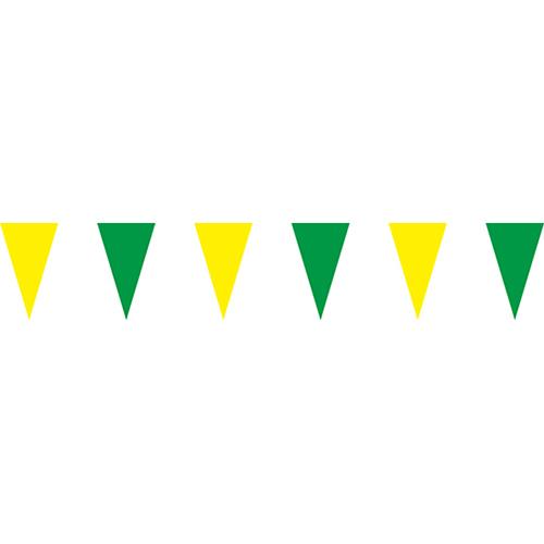黃綠三角串旗;彩色三角串旗