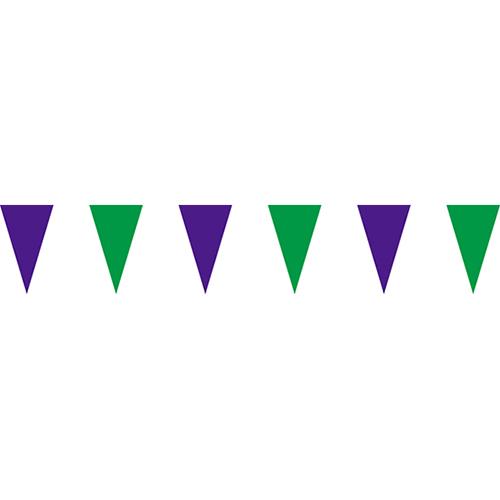 紫綠三角串旗;彩色三角串旗