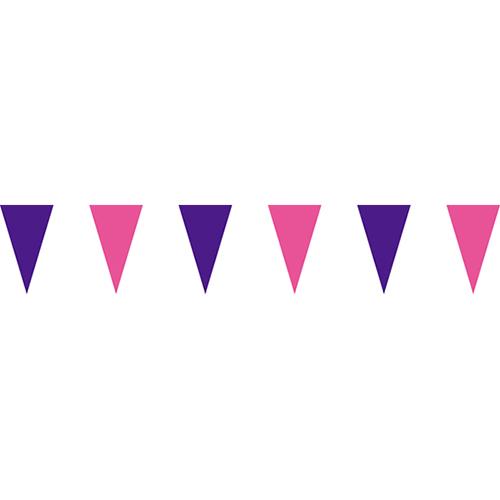 紫粉三角串旗;彩色三角串旗