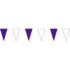 紫白三角串旗;彩色三角串旗