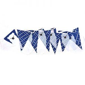 北極熊串旗