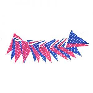 粉藍圓點串旗