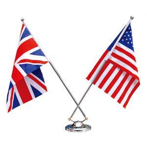雙叉高級桌上旗桿組