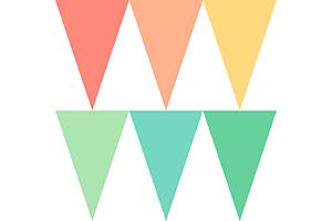 顏色組合三角串旗