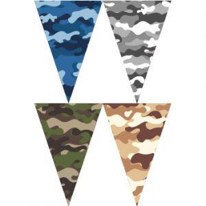 四色迷彩串旗