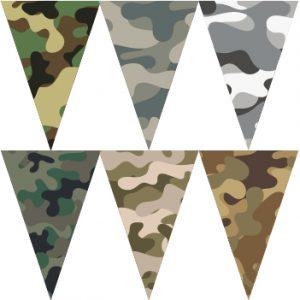 六色迷彩串旗