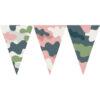 粉灰迷彩串旗