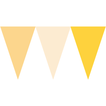 馬卡龍黃色串旗