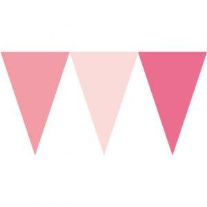 馬卡龍粉色串旗