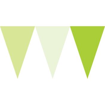馬卡龍綠色串旗