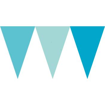 馬卡龍藍色串旗