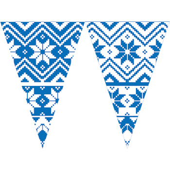 藍白北歐串旗