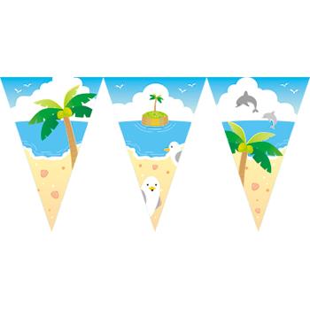 來去海灘串旗
