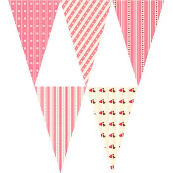 粉紅心串旗
