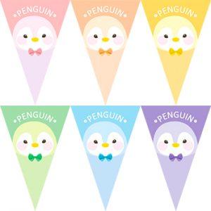 彩虹企鵝串旗