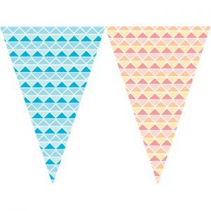 三角菱形串旗