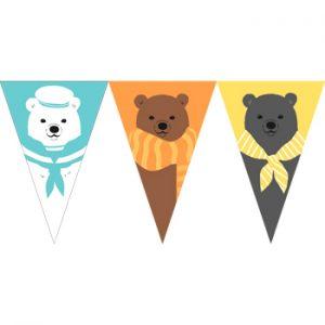 三隻小熊串旗