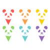 彩色熊貓串旗