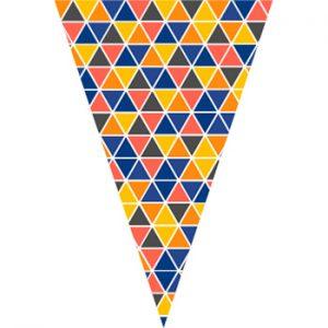 繽紛三角菱形串旗