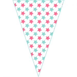 紅藍星星串旗