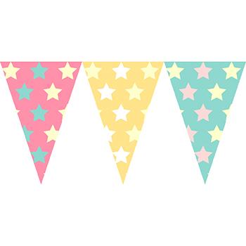 粉色星星串旗