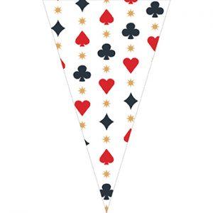撲克牌串旗