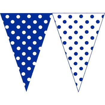 藍白圓點串旗