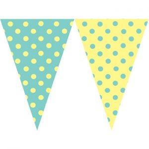 檸檬黃圓點串旗