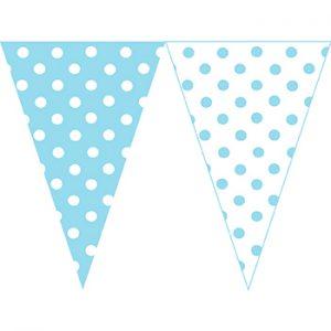 水藍圓點串旗
