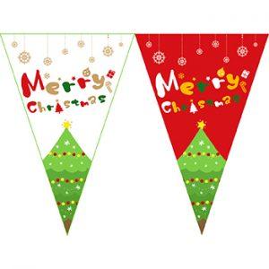 聖誕樹串旗;聖誕節串旗