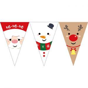聖誕大臉串旗;聖誕串旗
