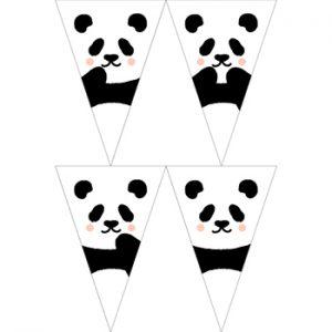 熊貓寶寶串旗