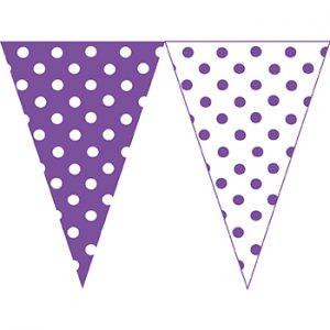 紫白圓點串旗