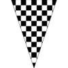 黑白方塊串旗