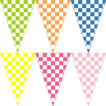 彩色方塊串旗