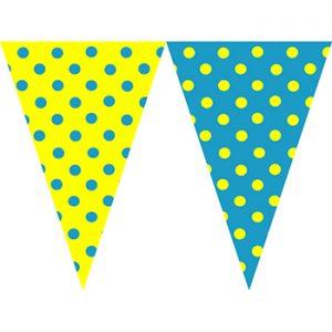 黃藍圓點串旗